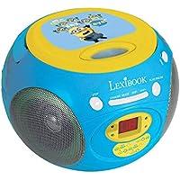 Minions - Reproductor Radio CD, color azul, Gru (Lexibook RCD102DES)