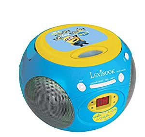 Gru: Mi Villano Favorito- Despicable Me Minions, Reproductor Radio CD, Color Azul (Lexibook RCD102DES), 26.2 x 22.6 x 14.7 (