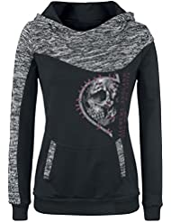 Alchemy England Life is Over Jersey con Capucha Mujer negro/gris