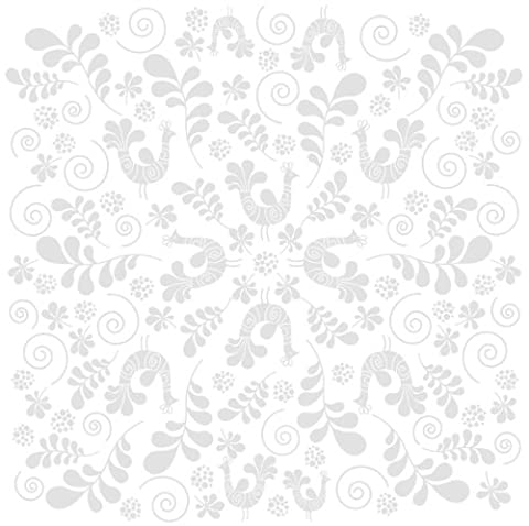 Bazzill Basics Paper 30,5 x 30,5 cm-Fancy-Bird Lot de 15 feuilles cartonnées Blanc