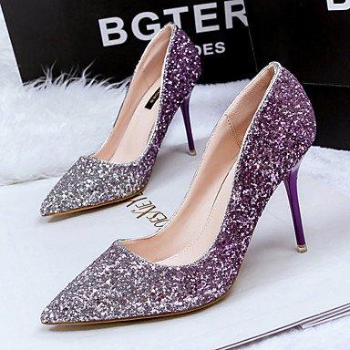 SHOESHAOGE Chaussures Pour Femmes Printemps Automne Paillette Pompe De Base Pour Des Talons Partie &Amp; Or Violet Rouge Bleu Soir Purple