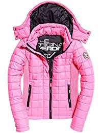 Superdry Damen Mantel Pink Fluro Hot Pink