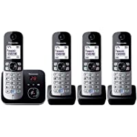 Panasonic KX-TG6824EB Quad DECT Cordless Telephone Set with Answer Machine