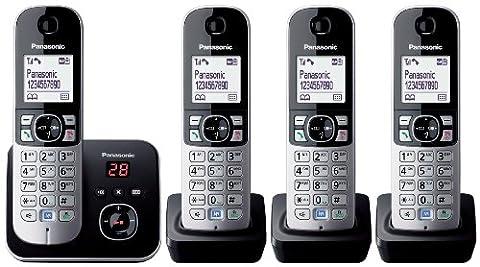 Panasonic KX-TG6824EB Quad DECT Cordless Telephone Set with Answer