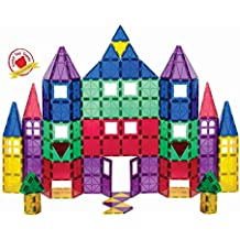 Playmags 151 100 Piece Super Set: With Strongest Magnets Guaranteed, Sturdy, Super Durable with Vivid Clear Color Tiles. 18-piece Clickins Accessories to Enhance your Creativity