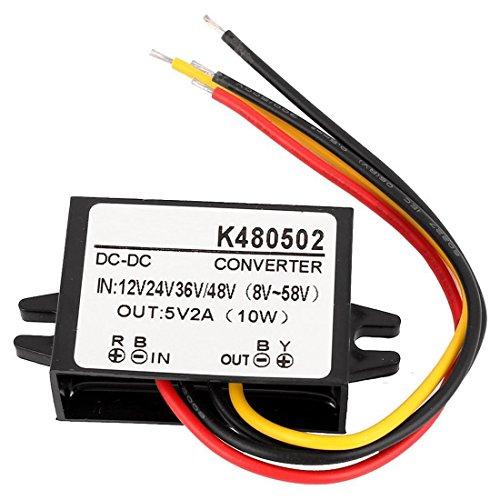 Preisvergleich Produktbild SODIAL(R) DC 12V/24V/36V/48V zu DC 5V 2A 10W Auto Stromversorger Modul Spannungswandler Regler Wasserfest Elektronik Transformator