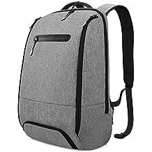 REYLEO Mochila Portátil Impermeable Backpack Para Ordenador Hasta 15,6 Pulgadas Con Varios Compartimentos del Casual Deporte Viaje Trabajo - 20L Gris