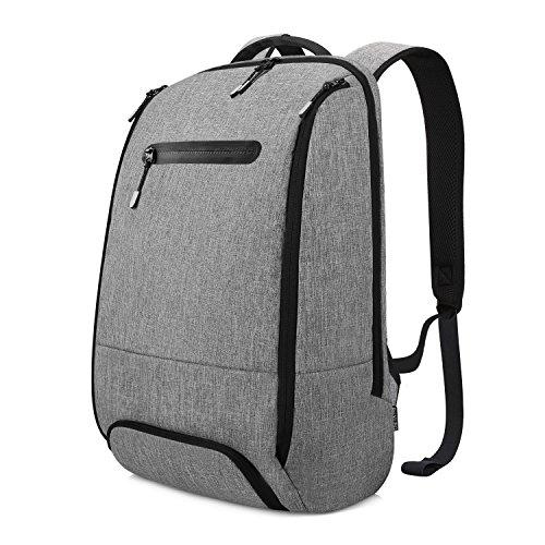 REYLEO Laptop Rucksack Leichtgewichtiger 15.6 Zoll Wasserdichte Laptoptasche Für Alltag Stadt Business Grau (Computer-rucksack Leichte)