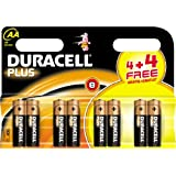 Duracell Plus AA 4 + 4 Free (8 Pack)