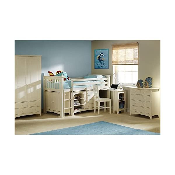 Julian Bowen cameo childrens combination wardrobe in stone white finish Julian Bowen Brilliant sturdy design Fits brilliantly with Kids Cabin beds. Three spacious drawers. 2