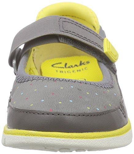 Clarks Tri Bitsey Inf, Mädchen Knöchelriemchen Sandalen, Grau (Anthracite Lea), 27 EU (9 Kinder UK) -