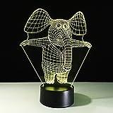 Luci Notturne Lampada Da Tavolo Elefante In Piedi 7 Colori Lampada Da Scrivania Cambiante Lampada 3D Novità Luci Notturne A Led Luce A Led