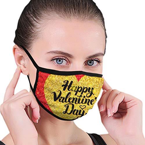 Wrution Happy Valentines Day Glitzer Postkarte Gesichtsmaske Staubmasken Filter Sicherheitsmasken für Männer Frauen Outdoor Sport
