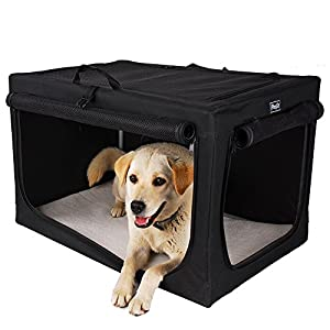 Petsfit Portable and Foldable Soft Travel Pet Home, Indoor/Outdoor Collapsible Soft Dog Crate