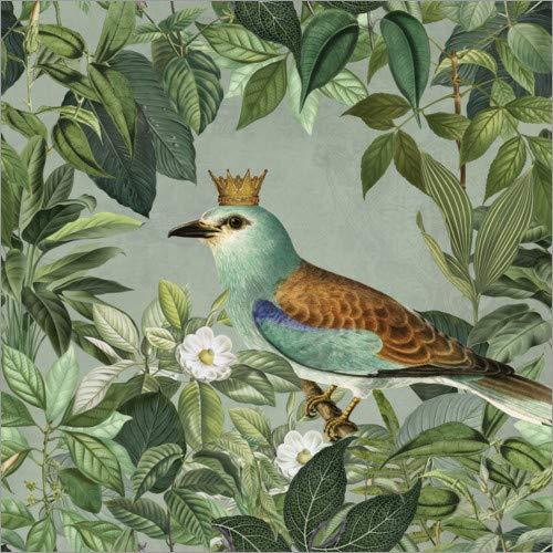 Posterlounge Acrylglasbild 13 x 13 cm: König des Dschungels von Andrea Haase - Wandbild, Acryl Glasbild, Druck auf Acryl Glas Bild