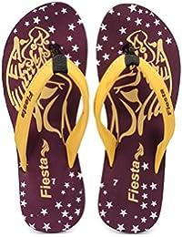 Frestol Women's Black Rubber Flip-Flops & House Slippers