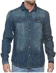 Deeluxe 74 - Chemise Homme En Jeans Délavée