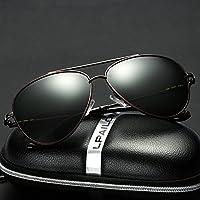 LXKMTYJ stile classico di occhiali da sole uomini occhiali da sole di tendenza retrò specchio conducente e retrovisori nero movimento nobile 6MlghqxVd