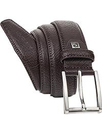 Cinturón de cuero para hombre/cinturón para hombre pierre cardin, brown, 8095