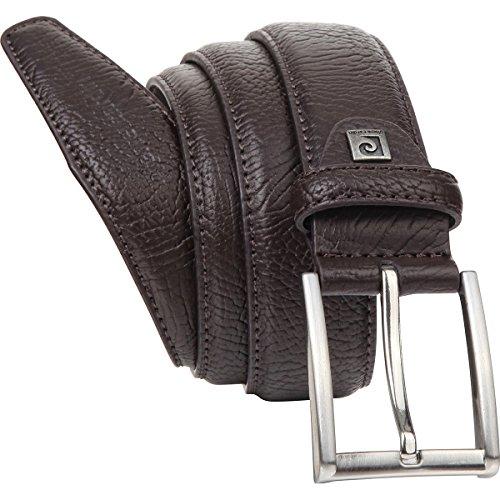 Cintura uomo de pelle / Cintura uomo Pierre Cardin, marrone, 35 mm, 8095, Größe / Size:120;Farbe / Color:marrone