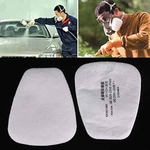Haihuic N95 5N11 Filtro a base di particelle di cotone Protezione della vernice per maschera antigas 3M 6200