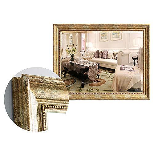 WWWRL Vintage Badezimmer Wandspiegel/Hotel Dekorativer Spiegel / 70x90cm / PS Material Rahmen, Schlafzimmer Kommode Kosmetikspiegel, Lobby Halblanger Spiegel, Schminkspiegel (Horizontal/Vertikal) -