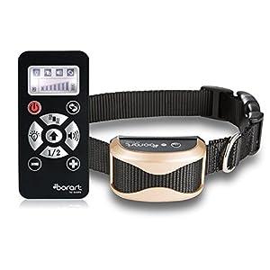 Collier de dressage de chien à distance, étanche et rechargeable, anti-aboiement, 7niveaux de vibrations et intensité du signal sonore avec ceinture réglable,sans danger et inoffensif pour les animaux, pour dresser votre chien - Dorart.