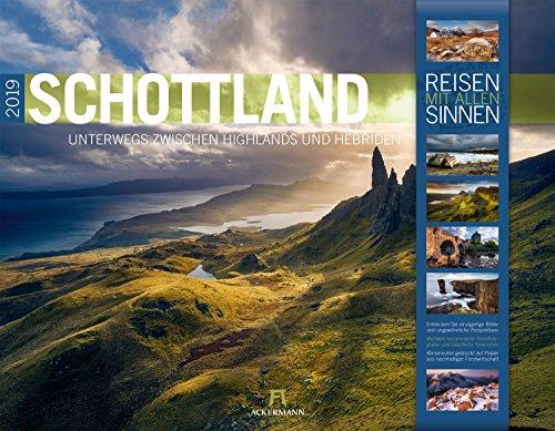 Preisvergleich Produktbild Schottland 2019,  Wandkalender im Querformat (54x42 cm) - Reisekalender mit Monatskalendarium (Reisen mit allen Sinnen)
