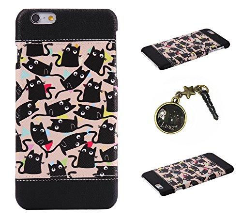 PC Cuir Coque Strass Case Etui Coque étui de portefeuille protection Coque Case Cas Cuir Swag Pour Apple iPhone 6S Plus (5.5 pouces)+Bouchons de poussière (2Q) 15