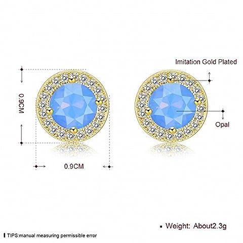 Frauen Fein Ohrringe Mode Trend Ohrringe Opal Serie , Hellblau / Überzogenes Gold (Opal Gold Überzogenes)