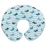 Chicco 08079902350000 Boppy Cuscino Allattamento, 0m+, Blu (Blu Whales)