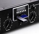 etc-shop PA Anlage 3000W USB Verstärker MP3 SD Endstufe Funkmikrofon-System Boxen DJ-Typhoon
