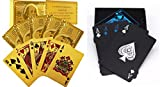 #9: Care CASE- Set of 2-Unique Black & Golden 24 K Gold Foil Plated Waterproof Good Quality Colorful Deck Poker Dollar Playing Cards Plastic Deck Poker Playing Card