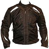 Chaqueta de moto textil para hombres,Airy Textile Jacket Men Black (XXXXL, Negro)