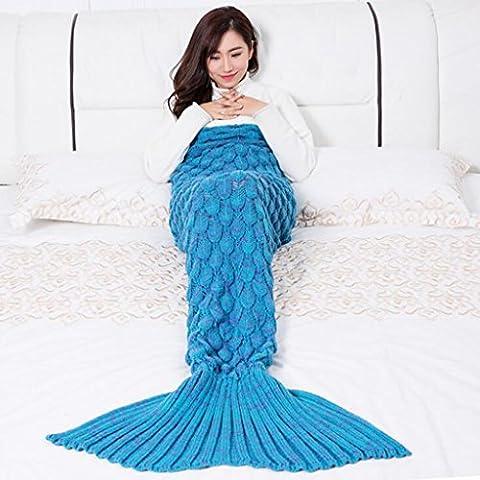 Couvertures Mermaid louvres beauté tricot fin de couverture couverture enfants