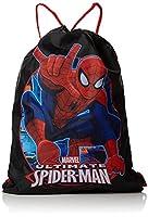 Spiderman Trainer Drawstring Bag, 39 cm, Black
