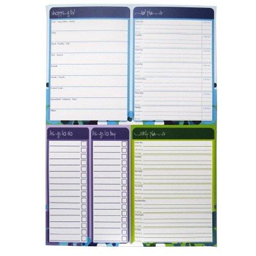 A4 Multiplaner Notizblock - Lebensmittelliste / Essen & Ernährung Planer / Wochenplaner / Dinge zu tun und zu kaufen'- 100 Blatt pro Pad - Größe 297mm x 210mm