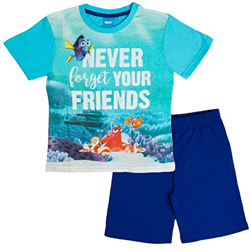 Disney Boys Finding Dory Short Pyjamas Nemo Short Sleeve Shortie PJS Kids Size 2-8