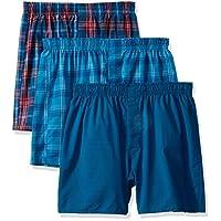 Hanes Ultimate Men's Woven Boxers Colors, Assorted 3, Medium
