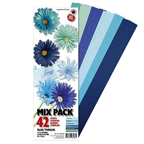Quilling Papierstreifen 120 St/ück 530mm lang 5mm breit Farbmix Gr/ün