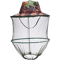 TOOGOO Sombrero de camuflaje para pesca Abeja con mosquitero Insectos Mosquitera Gorra de prevencion Malla Gorra de pesca Sombrilla al aire libre Cubierta de cabeza con cuello solitario