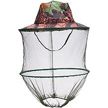 REFURBISHHOUSE Sombrero de Camuflaje para Pesca Abeja con mosquitero Insectos Mosquitera Gorra de prevencion Malla Gorra