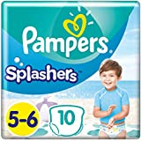 Pampers Splashers Größe5-6, 10Einweg-Schwimmwindeln
