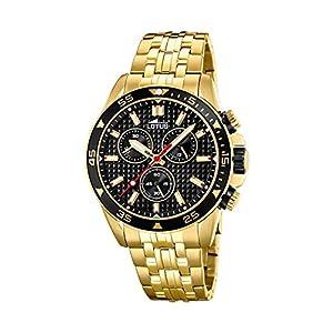 Lotus Reloj Cronógrafo para Hombre de Cuarzo con Correa en Acero Inoxidable