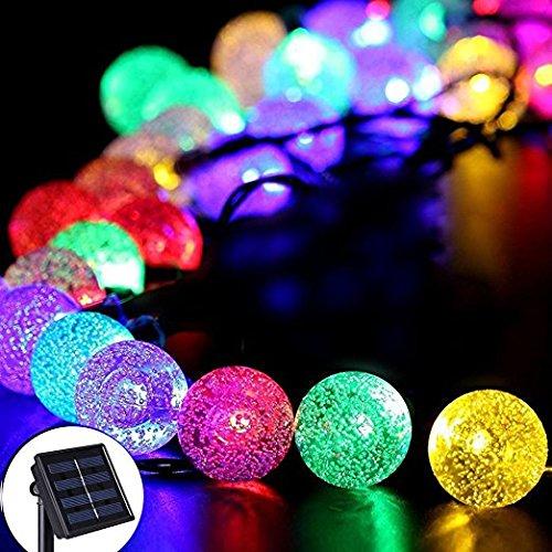 Wasserdicht Solar Crystal Ball Lights 30LED 20ft/6m Lichterkette Ball Beleuchtung/Lichter für indoor outdoor Garten Weihnachten Party Dekorationen (Multi Farbe))