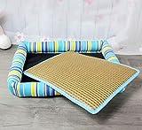 Lizes Pet materassino caldo Forniture per cani lettiere per gatti (colore: blu, dimensioni: L)
