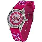 Reflex Zeitlern Mädchenuhr rosa 3D Schmetterling Silikonarmband REFK00011