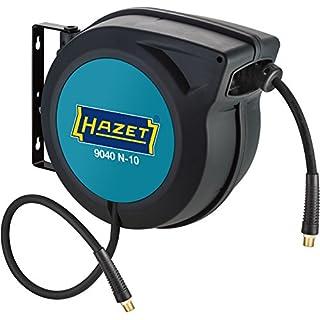 HAZET Schlauchaufroller (15 m Schlauchlänge, 10 mm Schlauch-Innendurchmesser, maximaler Druck: 20 bar, für Druckluft oder Wasser) 9040N-10
