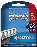 Wilkinson Sword Quattro Rasierklingen, 6 Stück