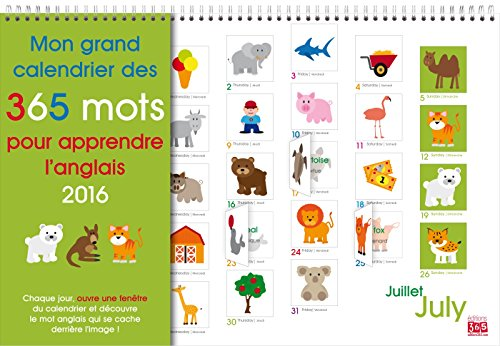 Mon grand calendrier des 365 mots pour apprendre l'anglais 2016 por Editions 365
